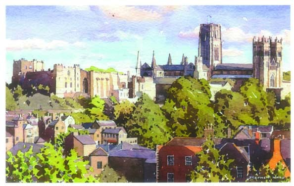 Stephen Ward Station View Watercolour At Durham University Official Shop