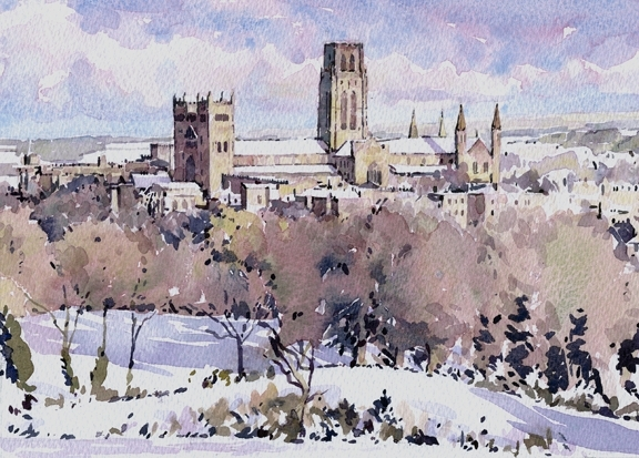view  observatory hill xmas card pack  durham university official shop