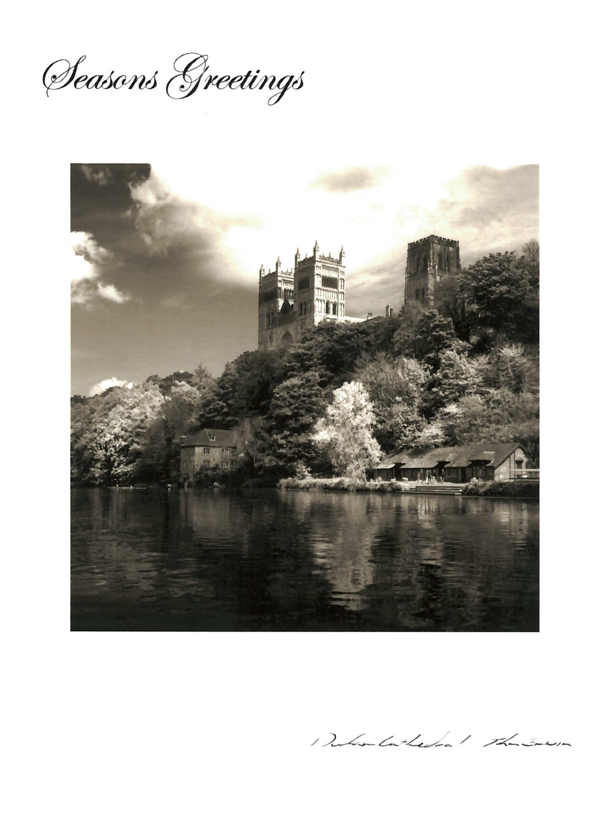 John Erwin Christmas Card Durham Cathedral At Durham University Official Shop
